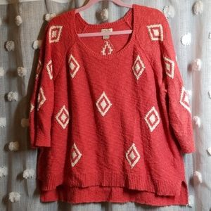 Lucky Brand Geometric Sweater size 2x